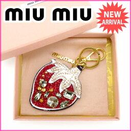 MIUMIU【ミュウミュウ】 キーリング  男女兼用