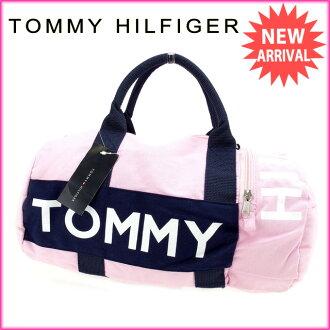 tomihirufiga TOMMY HILFIGER寬底旅行皮包2WAY肩膀女士粉紅棉100%(對應)未使用的物品A900