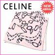 セリーヌ CELINE スカーフ レディース ピンク×グレー 100%シルク (あす楽対応) 【中古】 A917