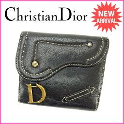 Christian Dior【クリスチャンディオール】 二つ折り財布(小銭入れあり)  レディース