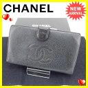 【中古】 シャネル CHANEL 長財布 がま口 二つ折り メンズ可 ...