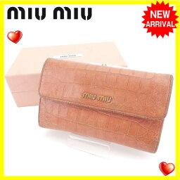 MIUMIU【ミュウミュウ】 長財布(小銭入れあり)  レディース