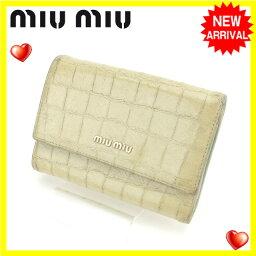 MIUMIU【ミュウミュウ】 三つ折り財布(小銭入れあり)  レディース