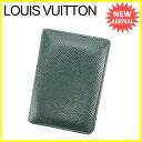 【中古】 ルイヴィトン 定期入れ パスケース Louis Vuitton エピセア(ダークグリーン) L1098s .
