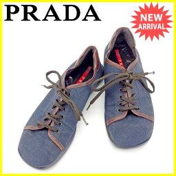 PRADA【プラダ】 スニーカー /キャンバス×レザー メンズ