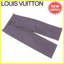 【中古】 ルイ ヴィトン パンツ ワイド Louis Vuitton ブラウン×ゴールド A1468s .