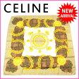 セリーヌ CELINE スカーフ 大判サイズ レディース チェーン&チェック ベージュ×ゴールド系 SILK/100% (あす楽対応) 【中古】 J6735