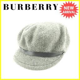 BURBERRY BLUE LABEL【バーバリーブルーレーベル】 帽子 /毛/100%合成皮革 レディース