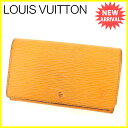 【お買い物マラソン】 【中古】 ルイ ヴィトン L字ファスナー財布 /二つ折り Louis Vuitton マンダリン(オレンジ) T2219s