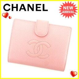 CHANEL【シャネル】 二つ折り財布(小銭入れあり) /レザー レディース