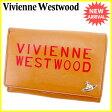 ヴィヴィアン ウエストウッド Vivienne Westwood 二つ折り財布 財布 L字ファスナー レディース メンズ 可 オーブ キャメル×レッド×シルバー レザー 【中古】 J20139