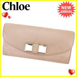 Chloe【クロエ】 長財布(小銭入れあり) /レザー×ゴールド素 ユニセックス