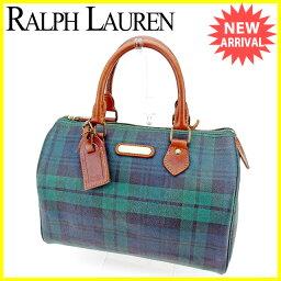 POLO RALPH LAUREN【ポロ・ラルフローレン】 ボストンバッグ /PVC×レザー レディース