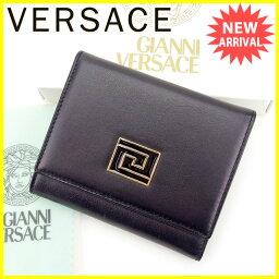 Gianni Versace【ジャンニ・ヴェルサーチ】 三つ折り財布(小銭入れあり) /レザー ユニセックス