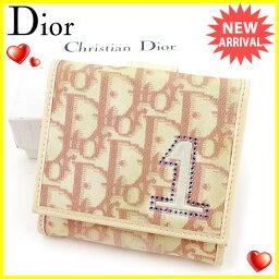 Dior【ディオール】 二つ折り財布(小銭入れあり) /キャンバス×エナメルレザー ユニセックス