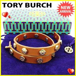 Tory Burch【トリーバーチ】 ブレスレット /レザー×ゴールド素材 レディース