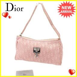 Dior【ディオール】 セカンドバッグ /キャンバス×レザー レディース