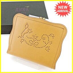 ANNA SUI【アナスイ】 二つ折り財布(小銭入れあり) /レザー 男女兼用