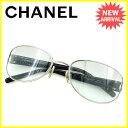 【お買い物マラソン】 【中古】 シャネル サングラス メガネ Chanel クリアグレー×シルバー×ブラック系 A1627s .