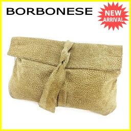 BORBONESE【ボルボネーゼ】 セカンドバッグ /スエード レディース
