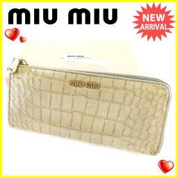 MIUMIU【ミュウミュウ】 長財布(小銭入れあり) /レザ- レディース