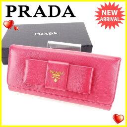 PRADA【プラダ】 長財布(小銭入れあり) レザー/レザー レディース