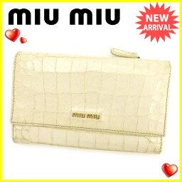 MIUMIU【ミュウミュウ】 長財布(小銭入れあり) /型押しレザー ユニセックス