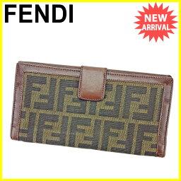 FENDI【フェンディ】 長財布(小銭入れあり) キャンバス/レザー ユニセックス