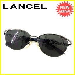 LANCEL【ランセル】 サングラス /プラスチック×ブラック金具 ユニセックス
