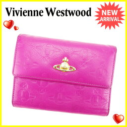 Vivienne Westwood【ヴィヴィアン・ウエストウッド】 三つ折り財布(小銭入れあり) /レザー ユニセックス