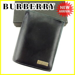 BURBERRY BLACK LABEL【バーバリーブラックレーベル】 二つ折り財布(小銭入れあり) /レザー ユニセックス