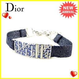 Dior【ディオール】 ブレスレット /シルバー金具×布 レディース