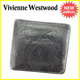Vivienne Westwood【ヴィヴィアン・ウエストウッド】 二つ折り財布(小銭入れあり) /レザー ユニセックス