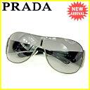 【お買い物マラソン】 【中古】 プラダ サングラス アイウエア Prada ブラック×シルバー S626s
