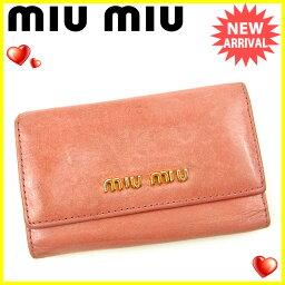 MIUMIU【ミュウミュウ】 キーホルダー /レザー ユニセックス