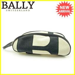BALLY【バリー】 セカンドバッグ /キャンバス×レザー レディース
