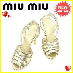 MIUMIU【ミュウミュウ】 サンダル /レザー レディース