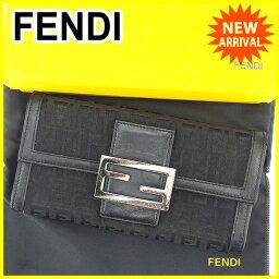 FENDI【フェンディ】 長財布(小銭入れあり) /キャンバス×レザー ユニセックス