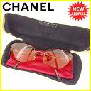 【お買い物マラソン】 【中古】 シャネル サングラス メガネ アイウェア Chanel クリアオレンジ×ブロンズ系 T4242s .