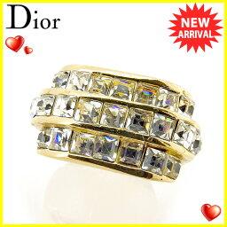 Dior【ディオール】 リング・指輪 /ラインストーン×ゴールドメッキ レディース