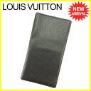 【中古】 ルイ ヴィトン 長札入れ 長財布 Louis Vuitton ブラック T4881s .