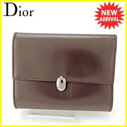 Dior【ディオール】 三つ折り財布(小銭入れあり) /レザー ユニセックス