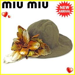 MIUMIU【ミュウミュウ】 帽子  レディース