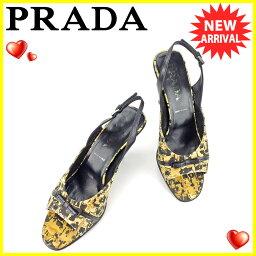 PRADA【プラダ】 サンダル キャンバス/レザー レディース