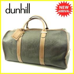 Dunhill【ダンヒル】 ボストンバッグ /PVC×レザー レディース