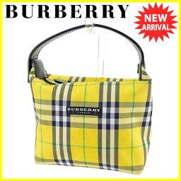 BURBERRY【バーバリー】 セカンドバッグ /キャンバス×レザー レディース