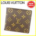 【お買い物マラソン】 【中古】 ルイ ヴィトン 二つ折り財布 廃盤モノグラム Louis Vuitton ブラウン T4932s .