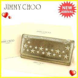 JIMMY CHOO【ジミーチュウ】 長財布(小銭入れあり)  レディース