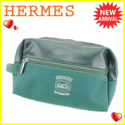 HERMES【エルメス】 セカンドバッグ /PVC×キャンバス レディース