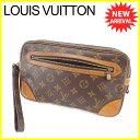 【お買い物マラソン】 【中古】 ルイ ヴィトン クラッチバッグ セカンドバッグ Louis Vuitton ブラウン T4994s .